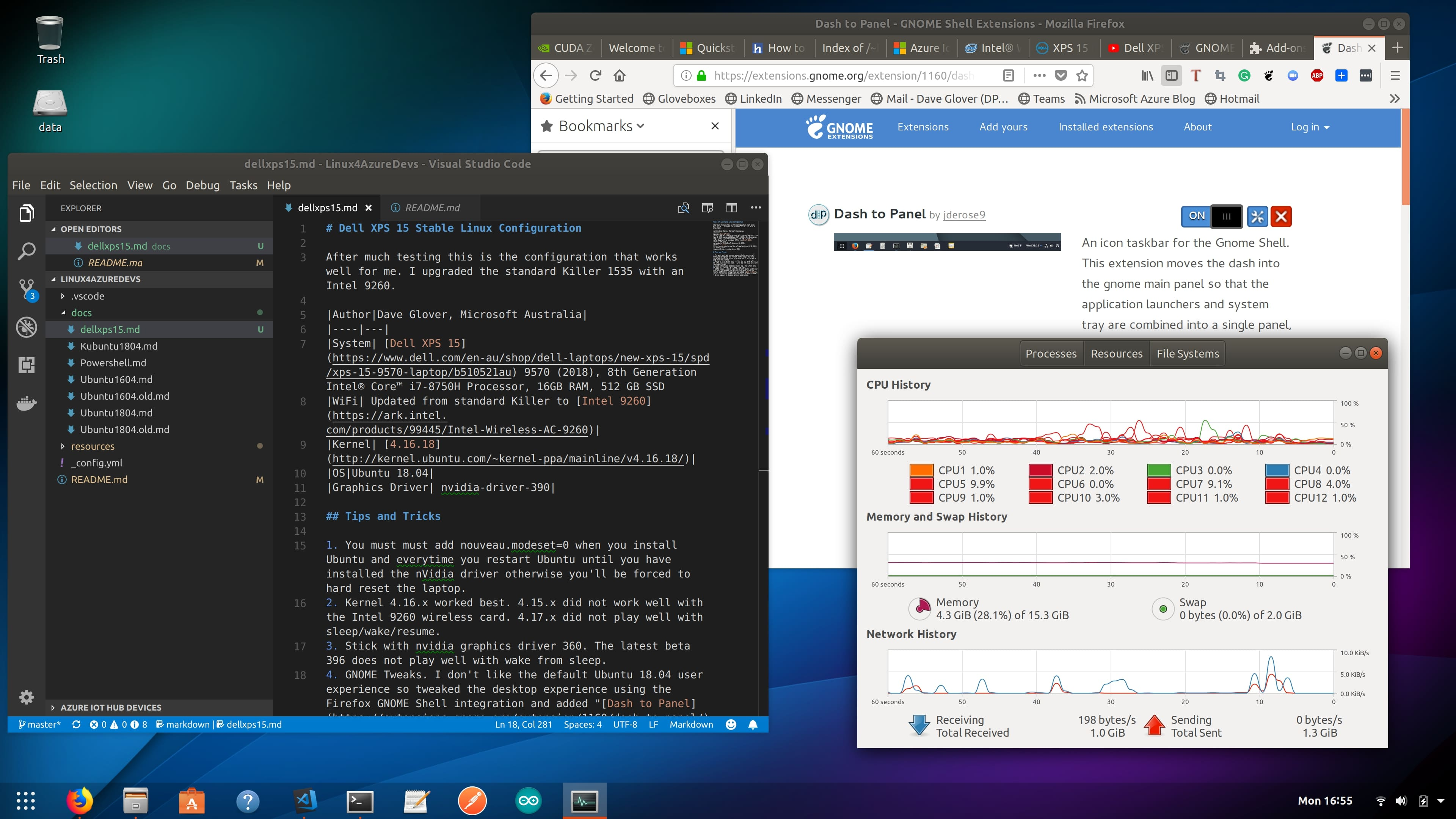 Dell XPS 15 Stable Linux Configuration | Ubuntu-for-Azure-Developers